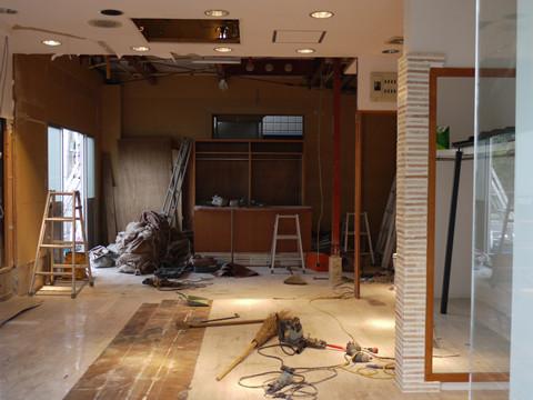 新店の工事